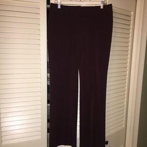 LOFT Marisa fit cranberry trousers